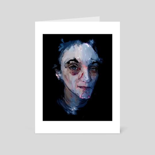 Blue portrait  by Pablo Puentes