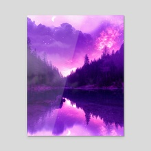 Dreamy Lake - Acrylic by Jared Leonard
