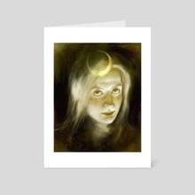 moon - Art Card by Alexandra  Zhukova