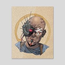 Mecha Man - Acrylic by Christopher Blackstock