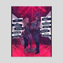 Fox & Noir - Canvas by Sydney Norris
