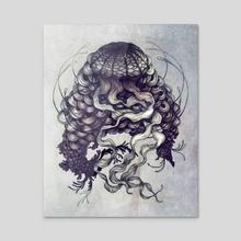 Jellyfish - Acrylic by Sara Blake