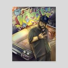 Ice Cube Rapper Graffiti Illustration  - Canvas by Kind Gotospace
