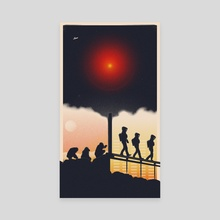 2001: A Space Odyssey - Canvas by Felix Tindall
