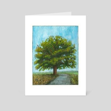 McBaine Bur Oak  - Art Card by Cody Davis