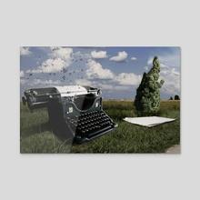 Writing Machine - Acrylic by Alessandro Berzuini