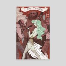 Jenny Hannivers Gig Poster - Canvas by Noelle Stevenson