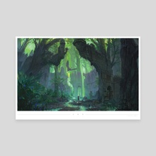 The Hunt in Applebottom Forest - Canvas by Nicholas Ragetli