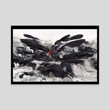 THE RISE OF THE BLACK SWAN - Canvas by Gabor Paszti