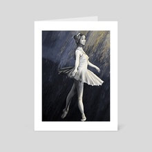 Dancing on the Line - Art Card by Hanah