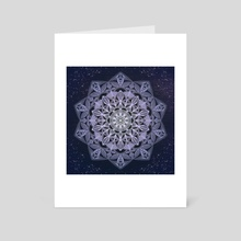 Blue Mandala - Art Card by Violet Garden
