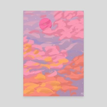 As the sun sets 2 - Canvas by Shaf