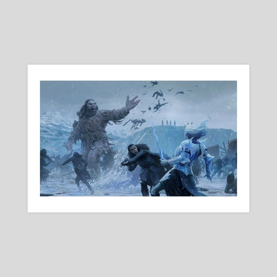 Jon snow battle by Joshua Cairós
