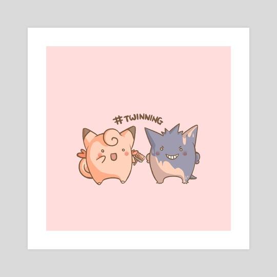 Twinning (Pink) by Miss Chibi