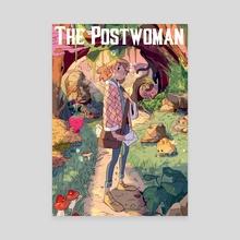 The postwoman - Canvas by Daphnée PIRKER