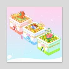 Pokemon Ramen  - Acrylic by Cube Mama
