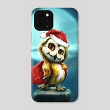 Owl Santa - Phone Case by Okan Bülbül