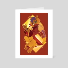 Cool Cat Capper - Art Card by JustaSuta