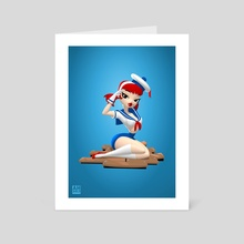 Sailor Trixie - Art Card by Andrew Hickinbottom