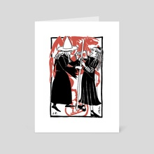 100 Gecs and the Horse Spirit - Art Card by Jensine Eckwall
