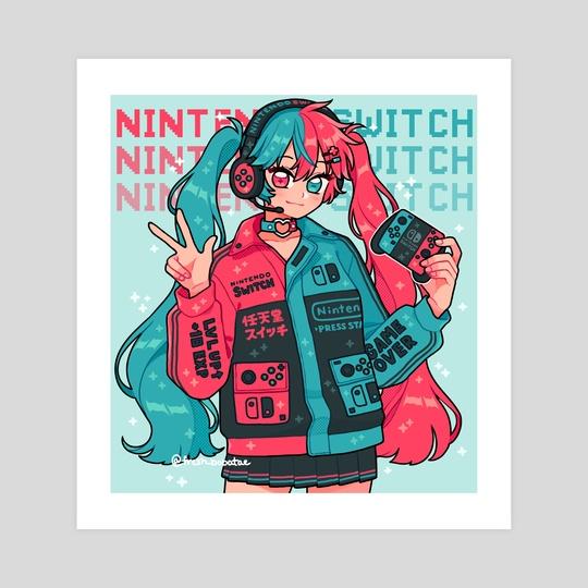 nintendo switch by fresh_bobatae