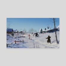 very severe winter... - Canvas by Jakub Różalski