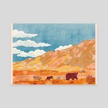 Gobi Desert Bears - Canvas by Nano Février