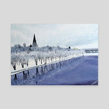 Fredericton Frost - Canvas by Jim Middleton