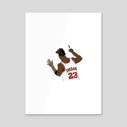 MJ 6 fingers  by Austin Harper
