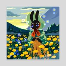 Summer Bunny No 9 - Canvas by Jelena Hallmann-Haeschke
