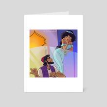 Aladdin can show you the World - Art Card by David Asimeng