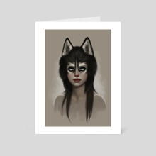Husky - Art Card by Fernanda Suarez