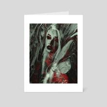 Thou Shalt Worship Me - Art Card by Kenneth Albert