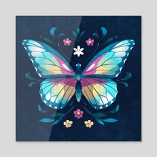 Butterfly - Jewel Bug Series - Insects - Acrylic by Ffion Evans