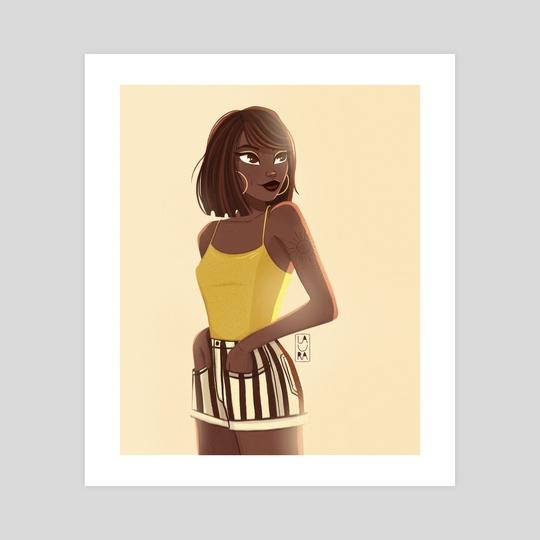 Stripe girl by Laura Dumitriu