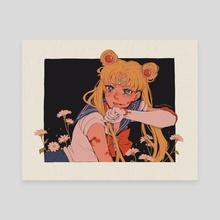 Bloody Sailor Moon - Canvas by mochipanko