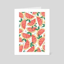 Citrus Surprise - Art Card by 83 Oranges