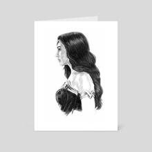 Wonder Woman Gal Gadot - Art Card by Michael DeNicola