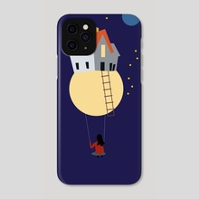 Swing in space - Phone Case by Michal Eyal