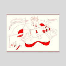 Create Freely (red) - Canvas by Bibi Thorarinsdottir