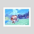sharing an adventure - Art Print by jae
