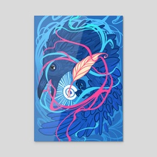 A Raven Memory - Acrylic by Ashenwave