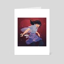 Mulan as Sasuke Uchiha - Art Card by Jéssica Ribeiro