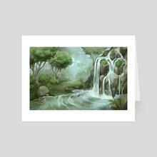 Waterfall - Art Card by Amy Gerardy