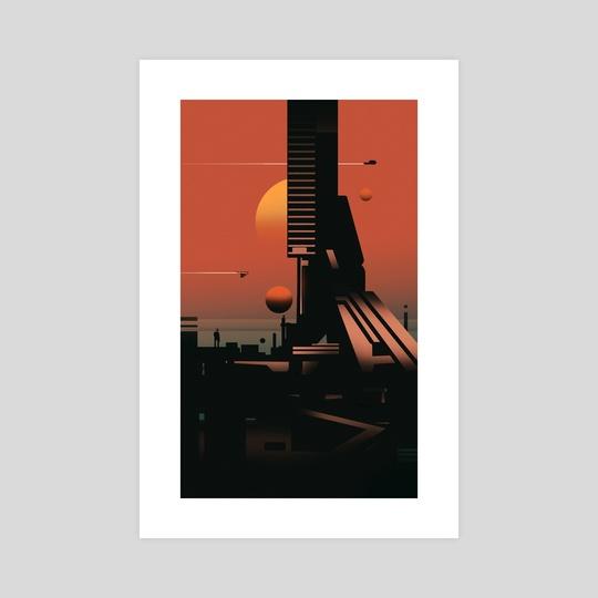 Scifi city  by Reza Afshar