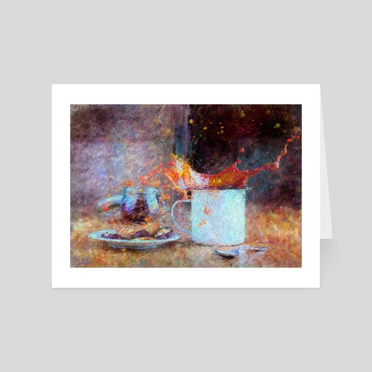 Coffee Splash Impressionist Painting by Bridget Garofalo