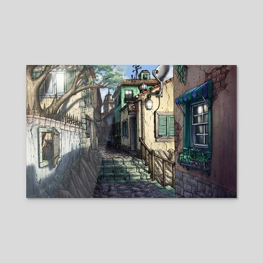 Italian Alley by Justino Sadur-Torres