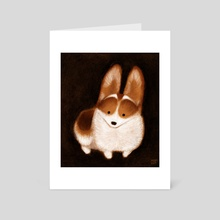 Corgi Pup - Art Card by Melissa  van der Paardt