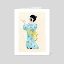 Smoking Yokai - Art Card by Morti Leigh