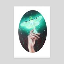 Actias Luna - Canvas by Creamy Existence